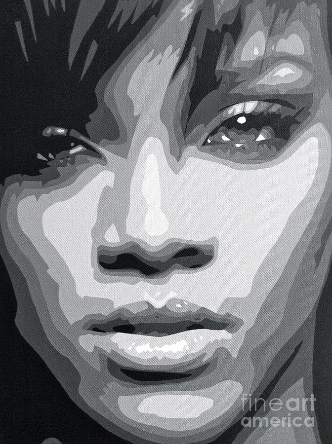 Rihanna Painting - Rihanna  by Siobhan Bevans