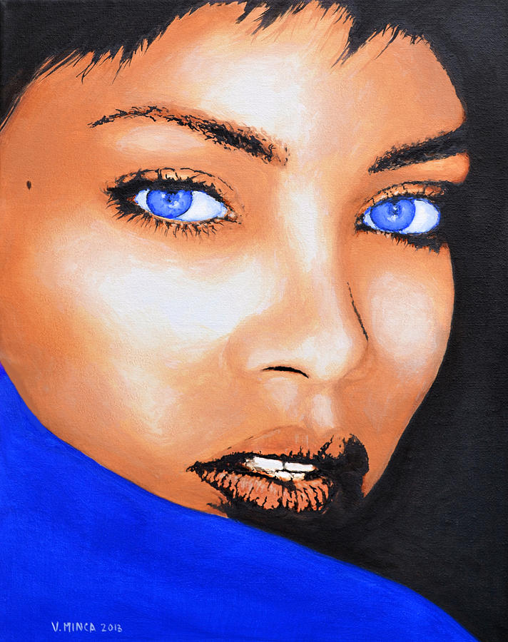 Rihanna Painting - Rihanna by Victor Minca