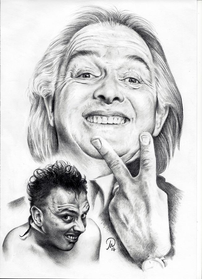 Rik Mayall Tribute Drawing by Tim Thorpe