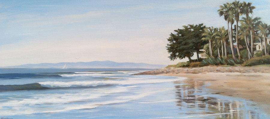 Oceanscape Painting - Rincon by Tina Obrien