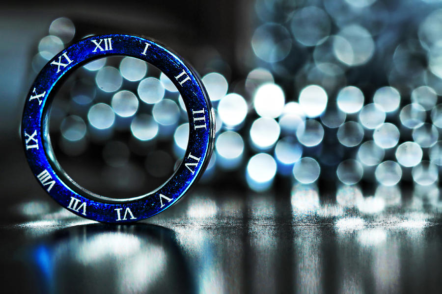 Clock Photograph - Ring Of Time by Suradej Chuephanich