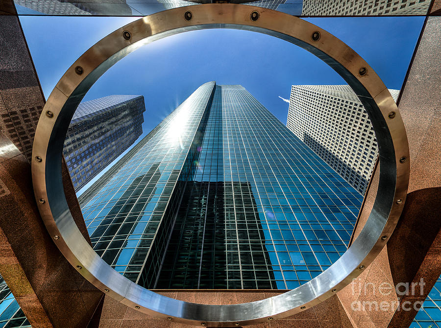 Building Photograph - Ring Of Trust - Wells Fargo Plaza by Dee Zunker