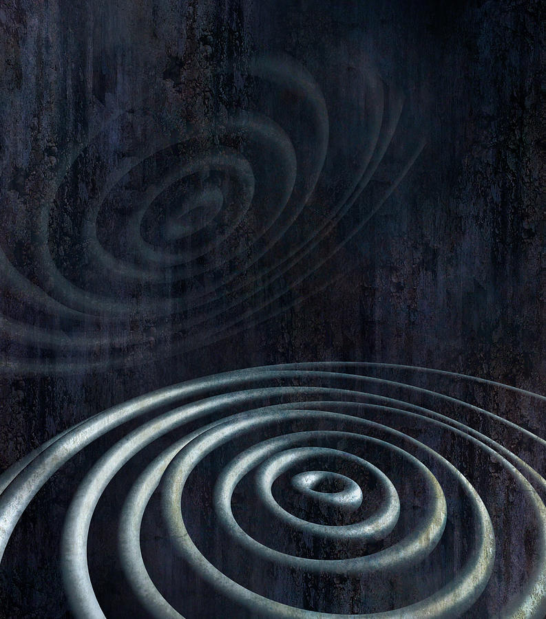 Abstract Digital Art - Ringing Echo by Florin Birjoveanu