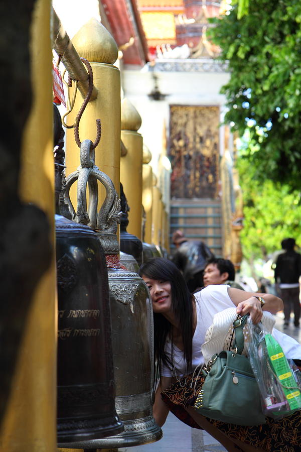 Chiang Photograph - Ringing Of The Bells - Wat Phrathat Doi Suthep - Chiang Mai Thailand - 01132 by DC Photographer
