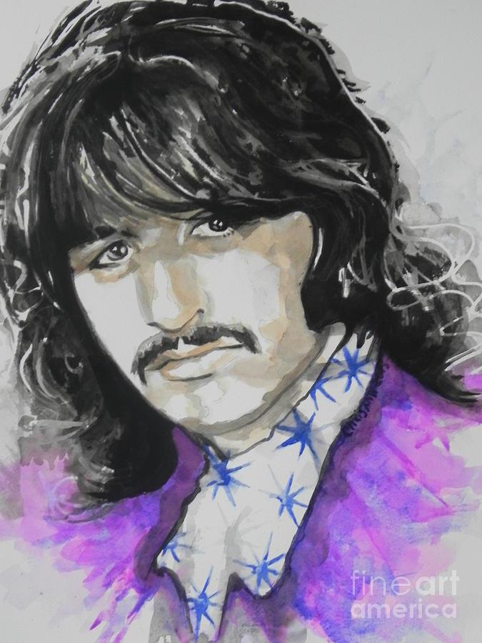 Watercolor Painting Painting - Ringo Starr. 01 by Chrisann Ellis