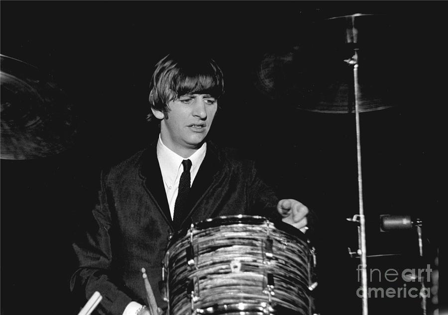 Beatles Photograph - Ringo Starr, Beatles Concert, 1964 by Larry Mulvehill