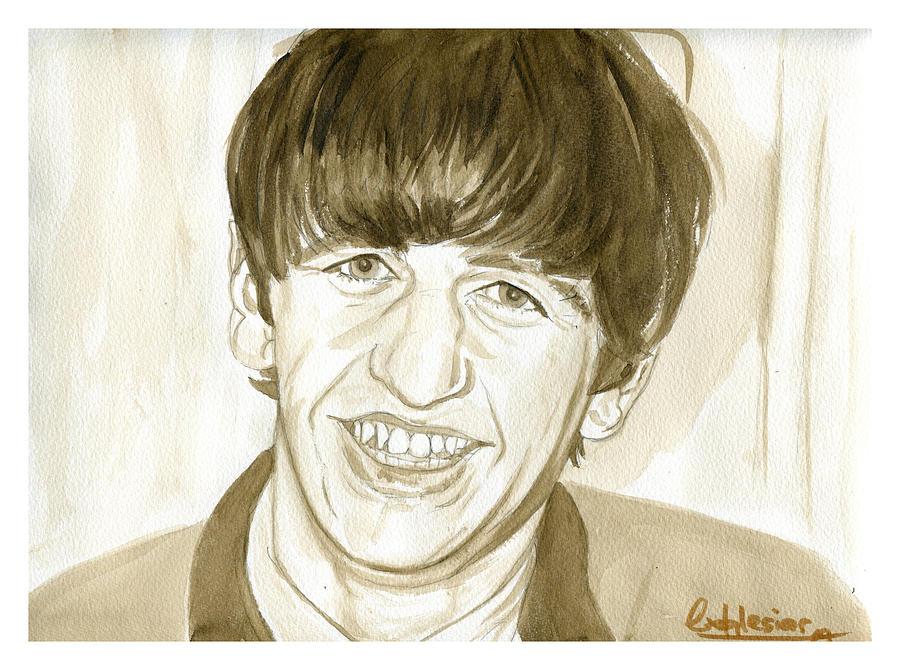 Portrait Painting - Ringo Starr by David Iglesias
