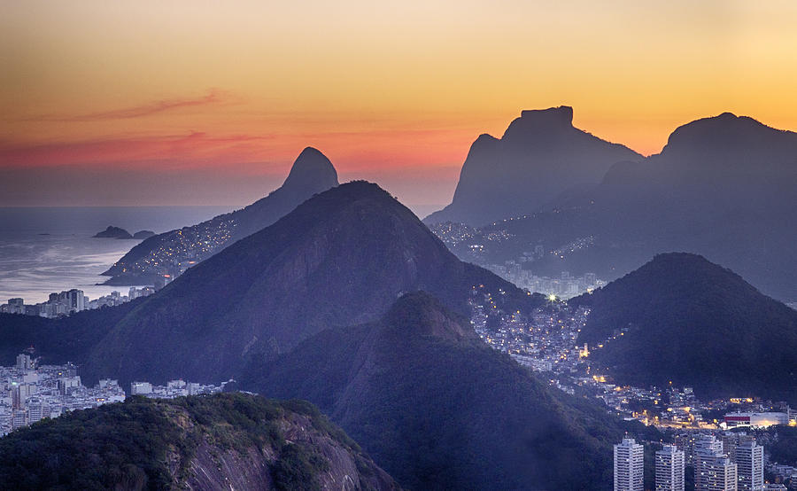 Rio At Sunset Photograph