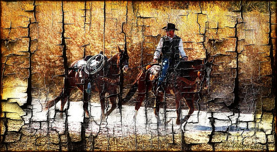 Western Cowboy Photograph - Rio Cowboy With Horses  by Barbara Chichester