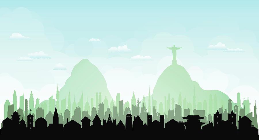 Rio De Janeiro Each Building Is Digital Art by Leontura