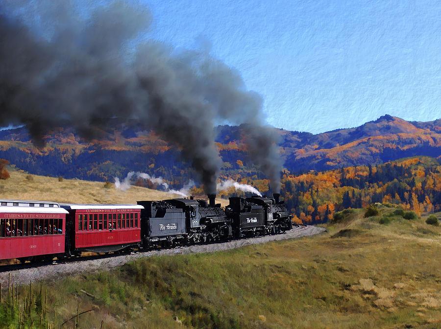Railroad Photograph - Rio Grande 488 And 489 by Kurt Van Wagner