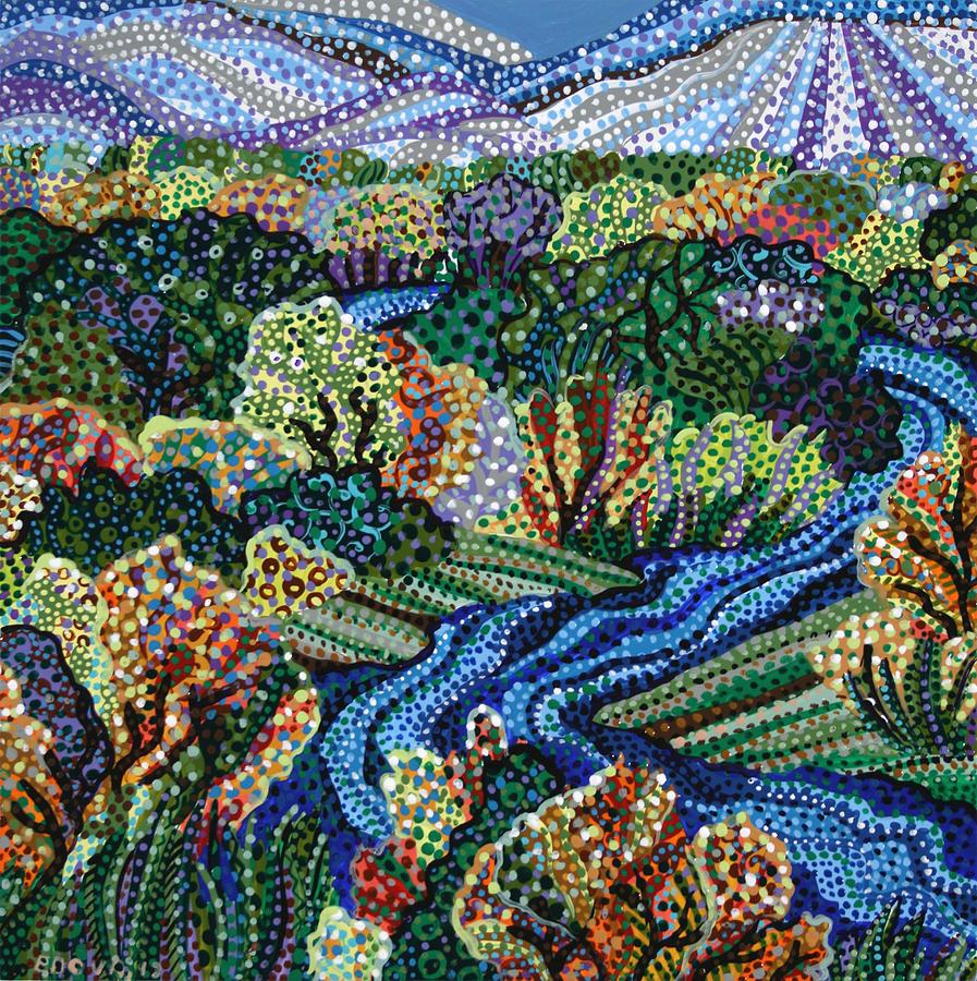 River Painting - Rio Grande by Erika Pochybova