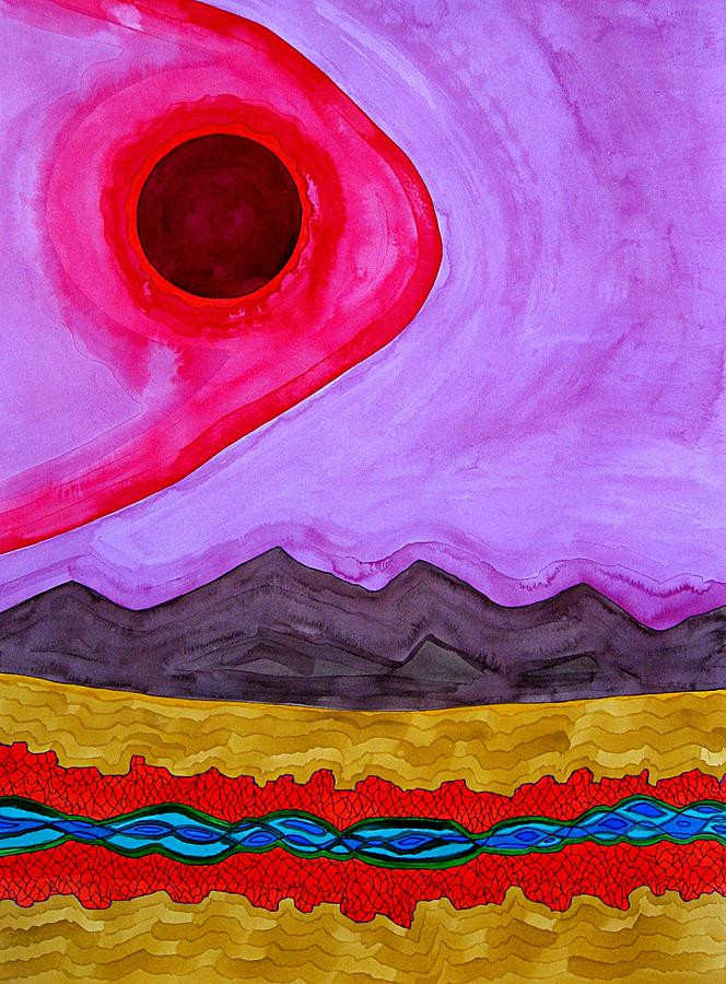 Southwest Painting - Rio Grande Gorge Original Painting by Sol Luckman