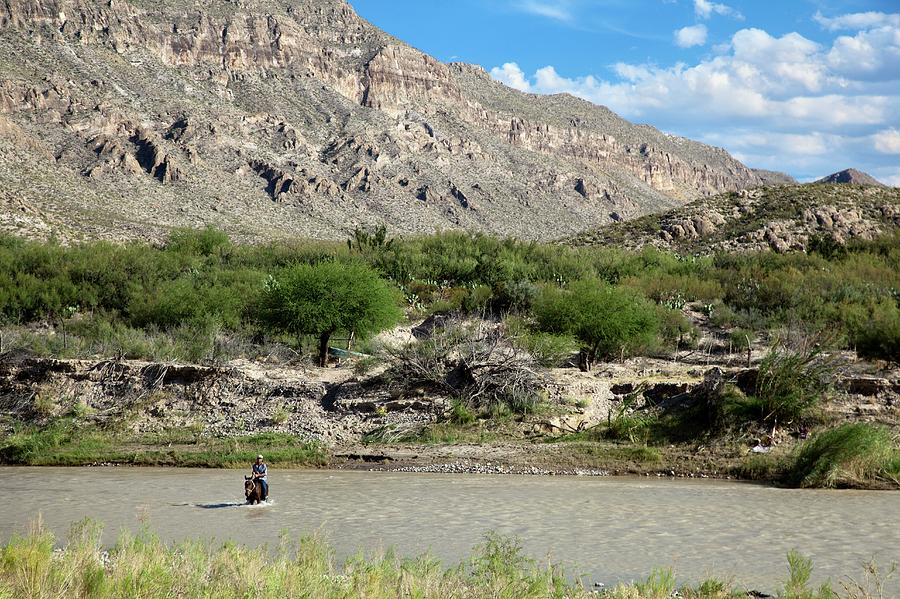 Human Photograph - Rio Grande by Jim West