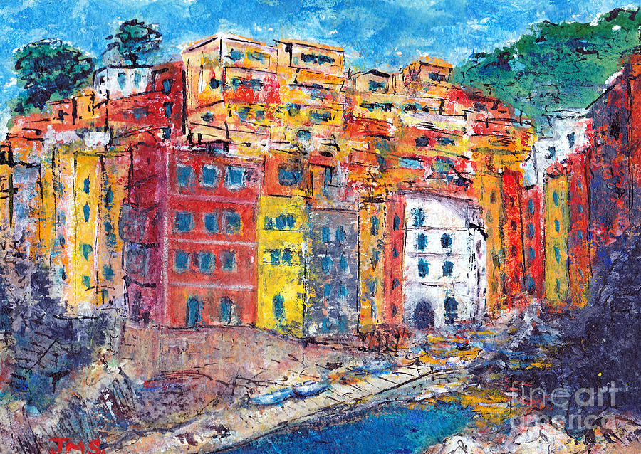 Riomaggiore Colours Cinque Terre by Jackie Sherwood