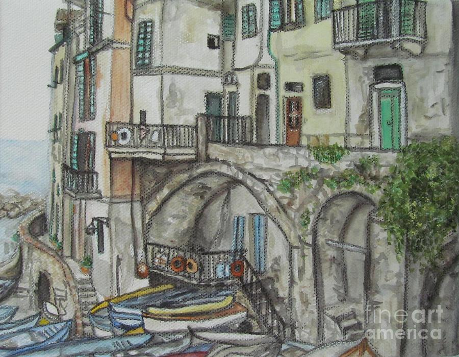 Riomaggoire Cinque Terre Italy by Malinda  Prudhomme