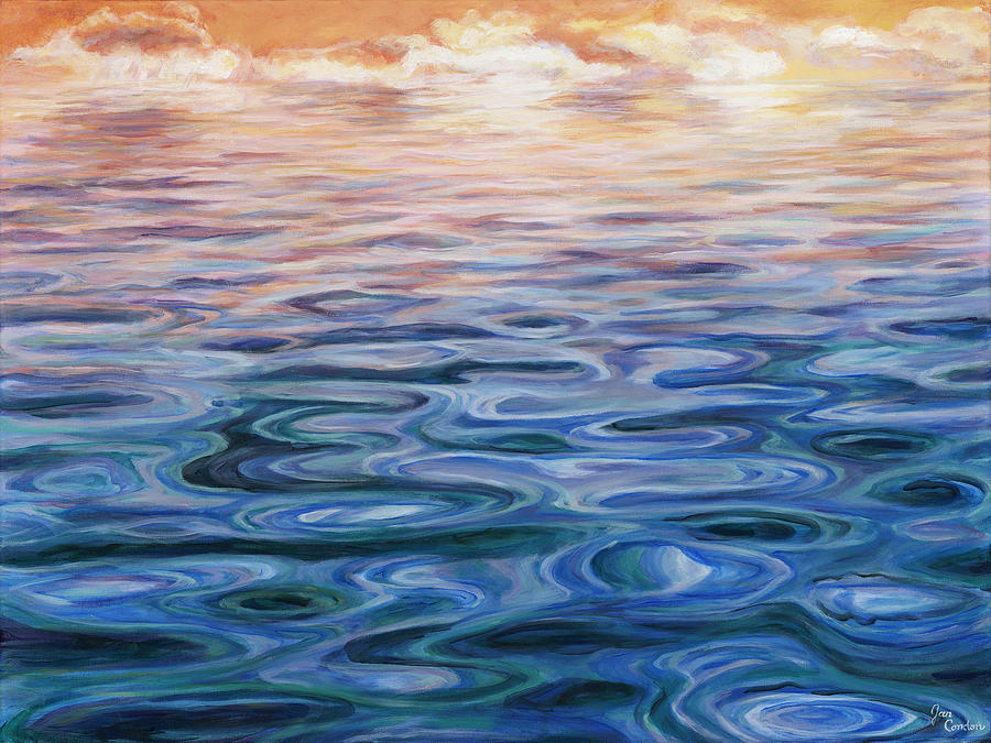 Ripple Effect Painting by Jan Condon