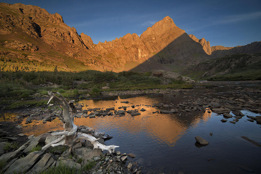 All Rights Reserved Photograph - Rippled Reflections Of Crestone Needle by Mike Berenson