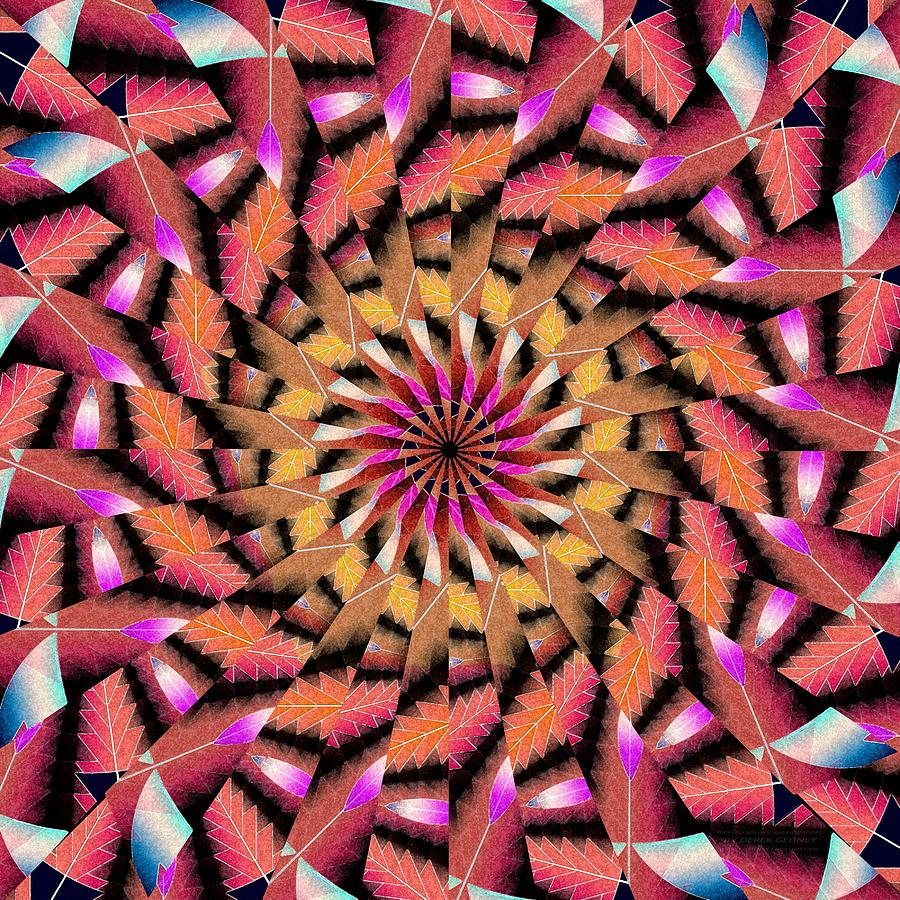 Sacred Drawing - Rippled Source Kaleidoscope by Derek Gedney