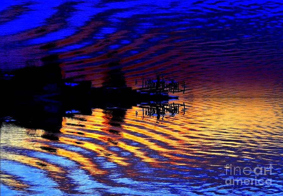 Ripples Photograph - Ripples and reflection by JCYoung MacroXscape