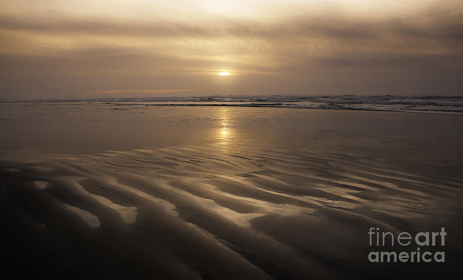 Oregon Photograph - Ripples In The Sand 1 by Vivian Christopher