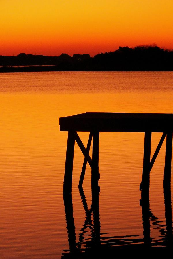 Orange Photograph - Ripples Of Copper by Karen Wiles