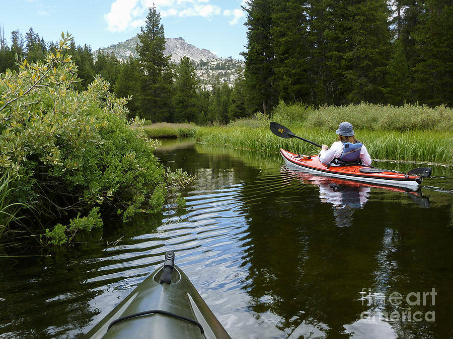 Kayak Photograph - Ripples Of Meadow And Mountain by Cheryl Wood