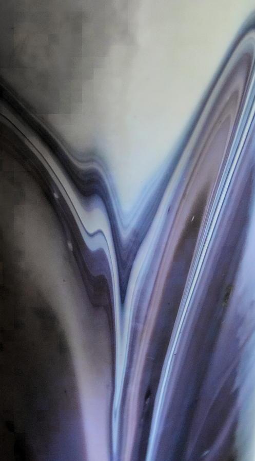 Curves Photograph - Rippling Color Waves Against Concentric Ellipses by Sandra Pena de Ortiz
