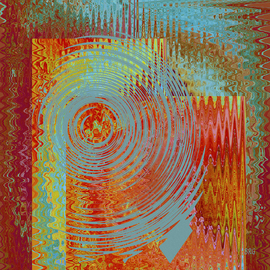 Multicolored Digital Art - Rippling Colors No 2 by Ben and Raisa Gertsberg