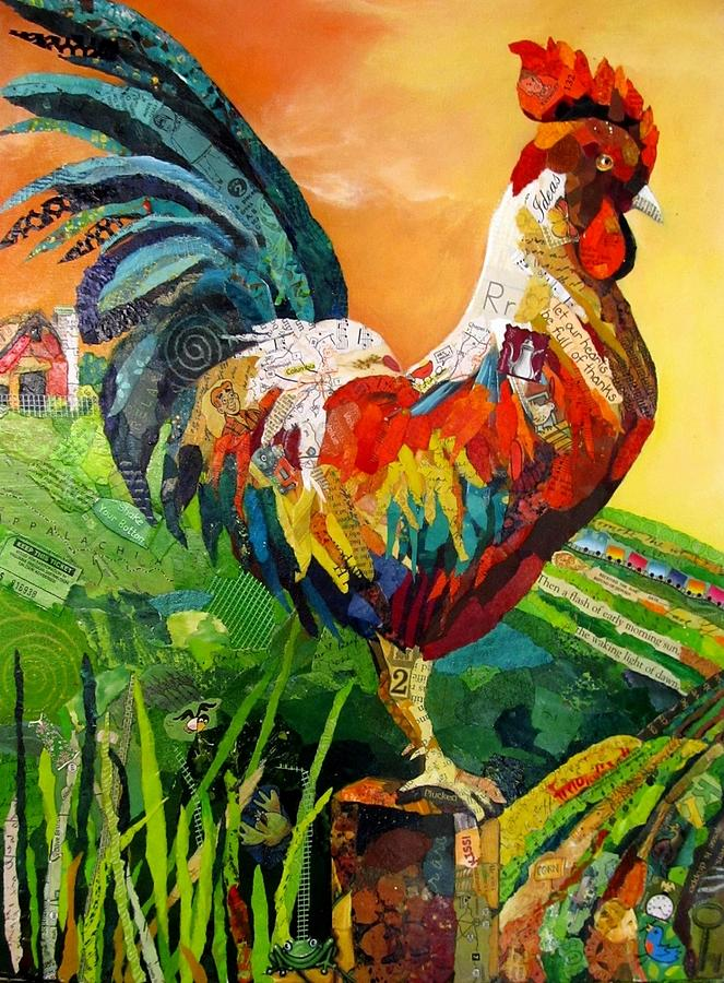 Rooster Painting - Rise And Shine by Kathy Fitzgerald