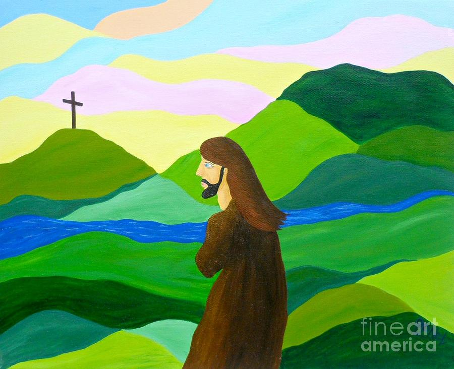 God Painting - Risen  A New Dawn by JoNeL Art