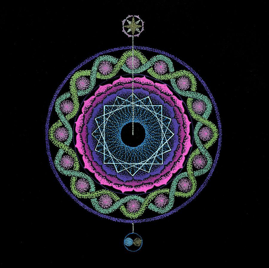 Healing Mandala Painting - Rising Above Challenges by Keiko Katsuta