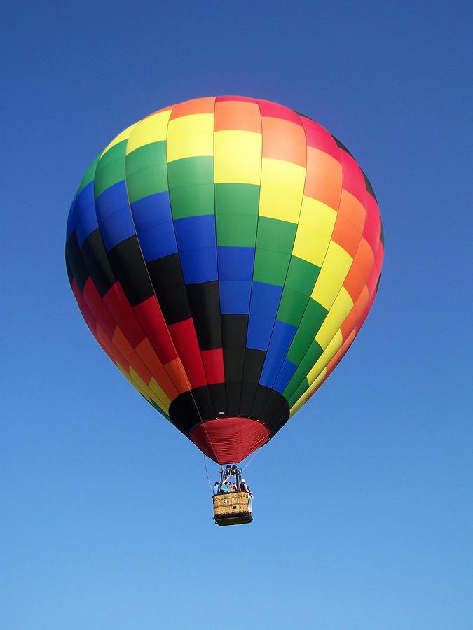 Hot Air Balloon Photograph - Rising Above by Noreen HaCohen