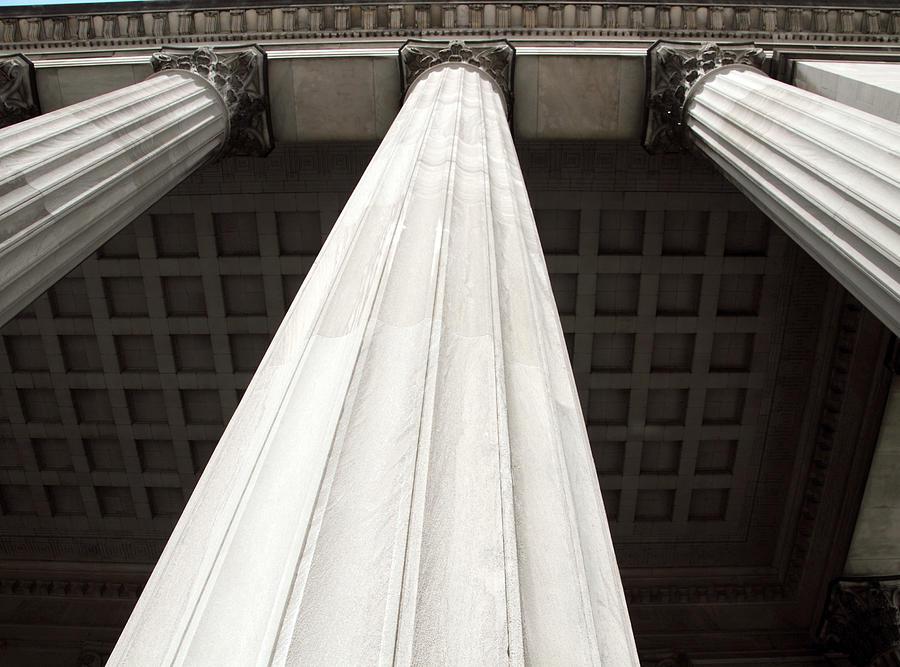 Scenic Photograph - Rising Columns by David Rosenthal