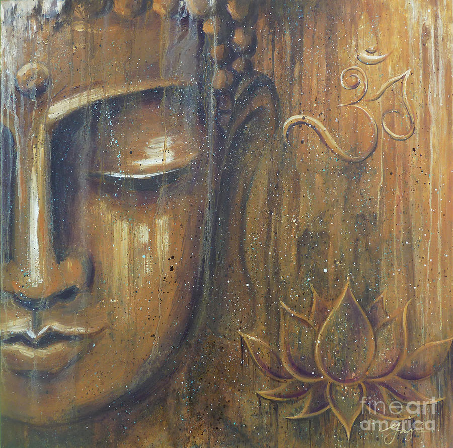 Buddha Painting - Rising Into Enlightenment by Gayle Utter