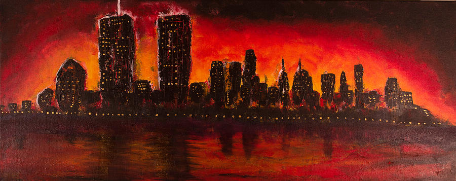 Rising Sun At Nyc Painting by Coqle Aragrev