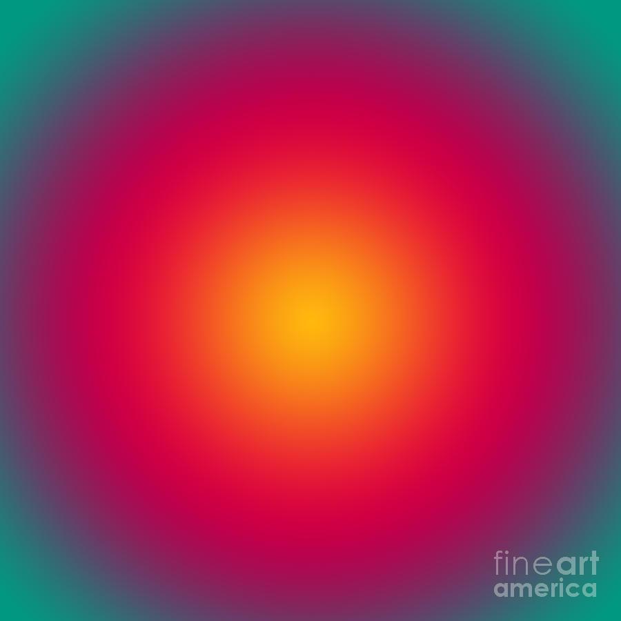 Mesmerizing Digital Art - Rising Sun Color Harmony by Gaspar Avila