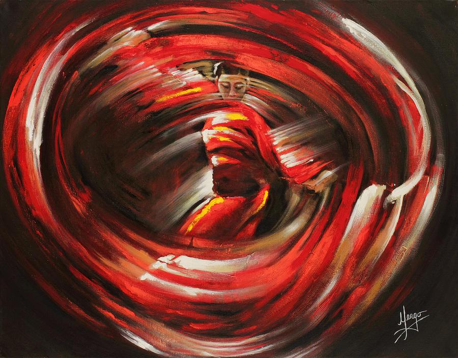 Dancing Painting - Rising sun by Karina Llergo