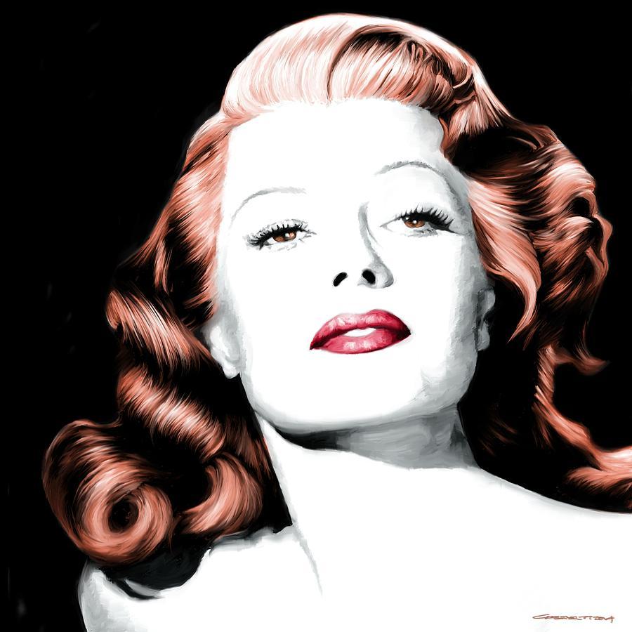 Rita Hayworth Digital Art - Rita Hayworth Large Size Portrait by Gabriel T Toro