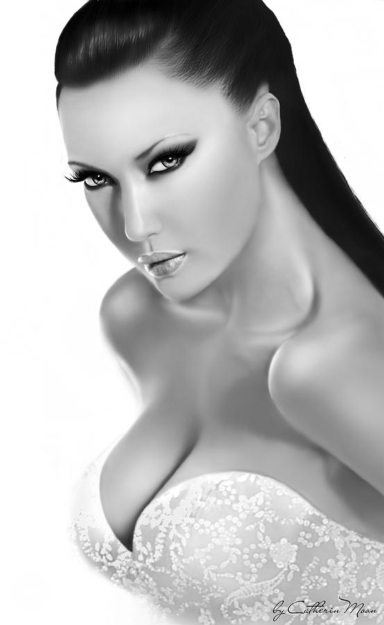 Beautiful Digital Art - Rita Lukin by Catherin Moon