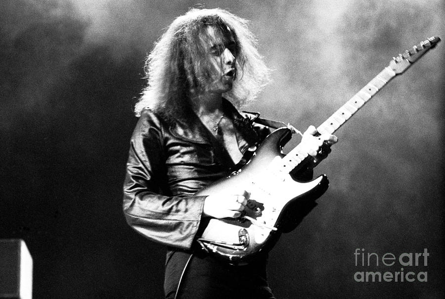 Deep Purple Photograph - Riitchie Blackmore 1973 Deep Purple by Chris Walter