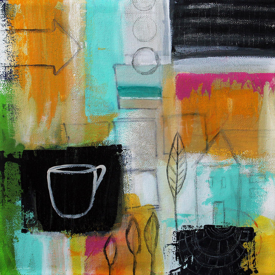 Abstract Painting - Rituals- Contemporary Abstract Painting by Linda Woods