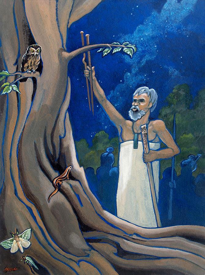 Maori Painting - Rituals by Patricia Howitt