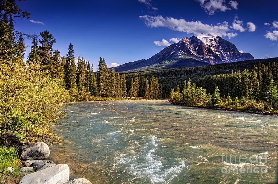 Mountain River In Jasper Photograph