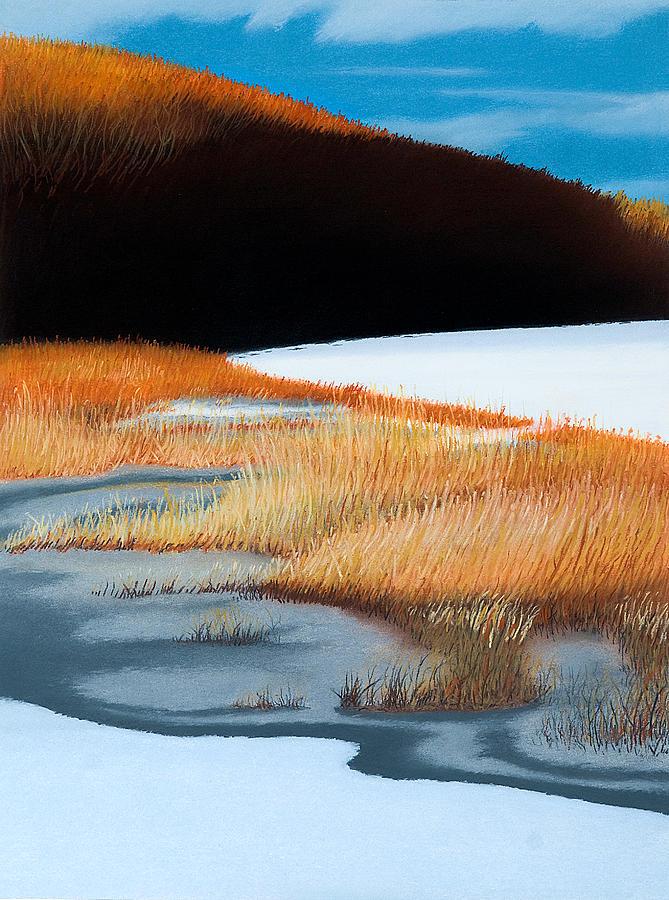 Landscape Pastel - River and Reeds by Bruce Richardson