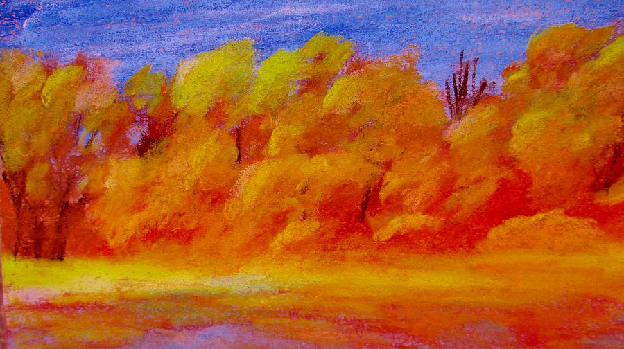 Landscape Pastel - River Bottoms In Autumn by Steve Jorde