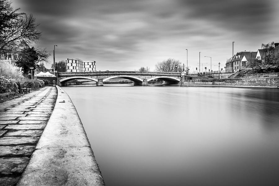 River Photograph - River Bridge. by Gary Gillette
