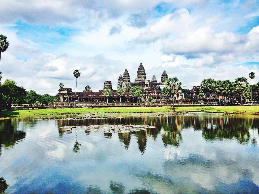 River By Angkor Wat Against Sky Photograph by Silvana Serra / Eyeem