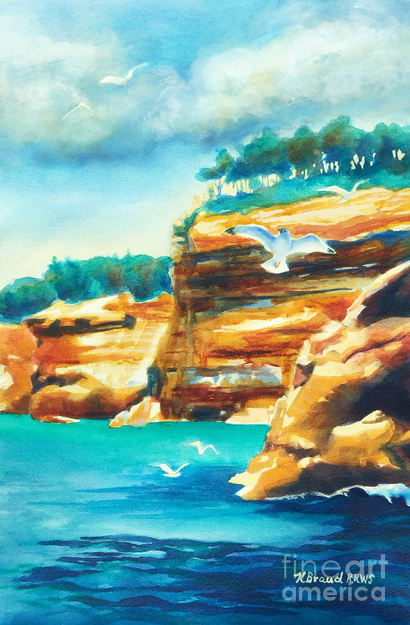 Paintings Painting - River Cliffs 2 by Kathy Braud