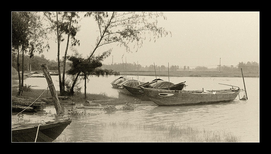 Fishing Boat Photograph - River Fishing Boats In Hoi An by Weston Westmoreland